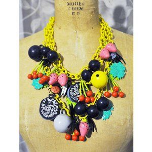 Fun Colorful Fruit Bug Leaf Animal Charm NECKLACE